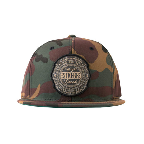 Weight Of Sound Camo Snapback