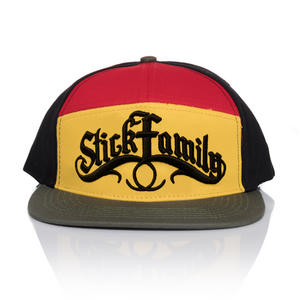 Stick Family Rasta 3D Embroidered 7-Panel