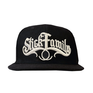 Stick Family 3D Embroidered Snapback (Black)