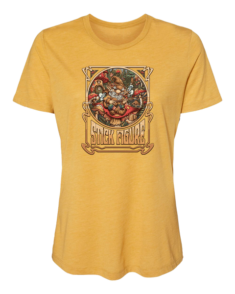 Women's Gnome Shirt (Two Color Options - Red Triblend & Mustard Triblend)