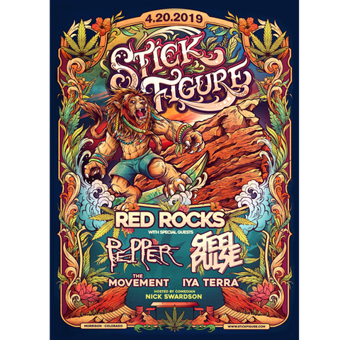 Red Rocks 2019 Poster