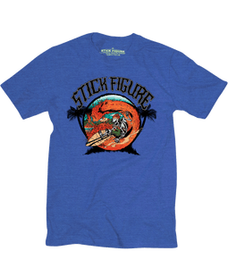 Burnin Ocean Tee (Royal or Navy Heather)