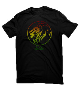 Midnight Rasta Lion Tee (Black)