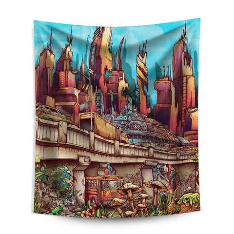 "World on Fire Wall Tapestry (7'11"" x 6')"