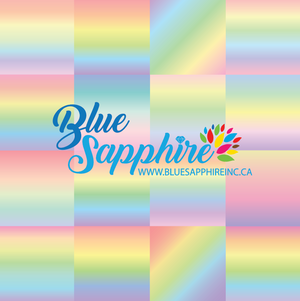 Pastel Rainbow Patterned HTV - PV65021 - Blue Sapphire