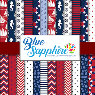 Nautical Patterned Vinyl – Glossy - PV50001