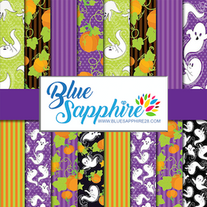 Halloween Patterned HTV - PV50002 - Blue Sapphire