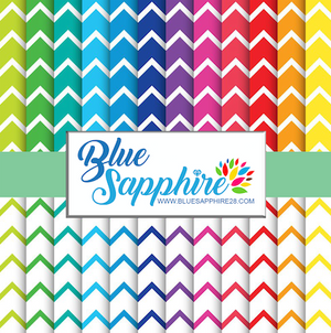 Chevron Patterned HTV - PV60006 - Blue Sapphire