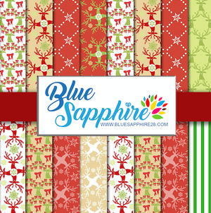 Christmas Patterned HTV - PV50004 - Blue Sapphire