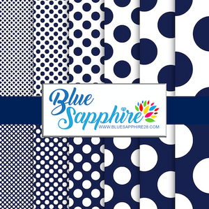 Polka Dots Patterned HTV - PV60016 - Blue Sapphire
