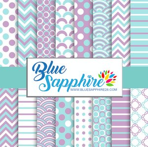 Mermaid Patterned HTV - PV60001 - Blue Sapphire