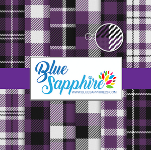Purple Plaid Patterned HTV - PV60023