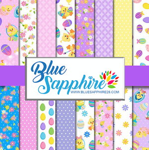 Easter Patterned Vinyl – Glossy - PV50038 - Blue Sapphire