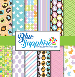 Easter Patterned HTV - PV50009 - Blue Sapphire