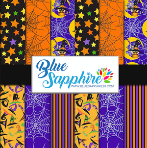 Halloween Patterned HTV - PV50021 - Blue Sapphire
