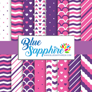 Purple and Pink Patterned HTV - PV60018 - Blue Sapphire