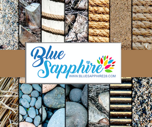 Beach Patterned Adhesive Vinyl - Matte - PV100 - Blue Sapphire