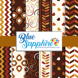 Fall Patterned HTV - PV60014 - Blue Sapphire