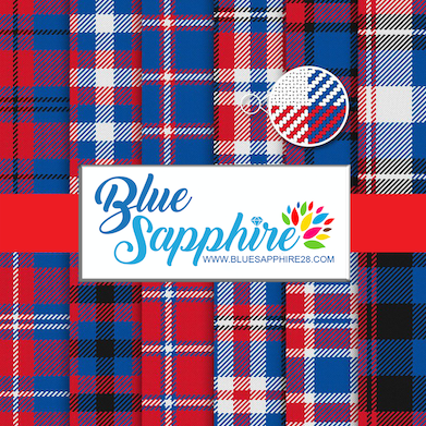 Blue and Red Plaid Patterned HTV - PV60004