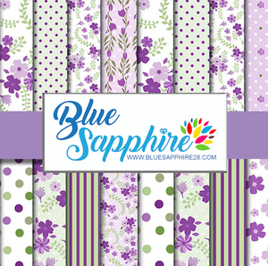 Flower Patterned HTV - PV50018 - Blue Sapphire