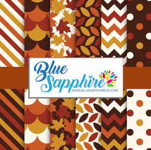 Fall Patterned HTV - PV60013 - Blue Sapphire