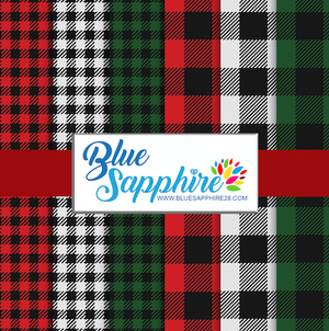 Plaid Patterned HTV - PV60007 - Blue Sapphire