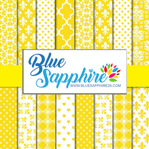 Yellow Patterned HTV - PV50025 - Blue Sapphire