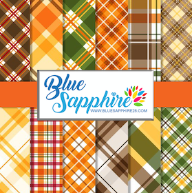 Fall Plaid Patterned HTV - PV512 - Blue Sapphire