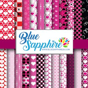 Valentines Patterned HTV - PV50005 - Blue Sapphire