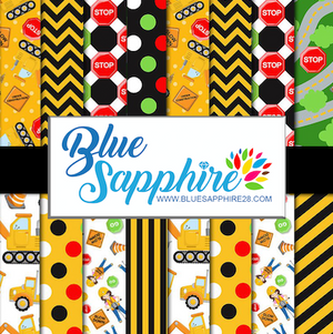 Construction Patterned Vinyl – Glossy - PV50035 - Blue Sapphire