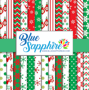 Christmas Patterned HTV - PV50033 - Blue Sapphire