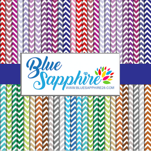 Chevron Patterned HTV - PV50015 - Blue Sapphire