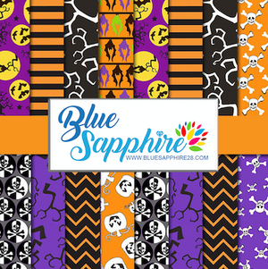Halloween Patterned HTV - PV50003 - Blue Sapphire