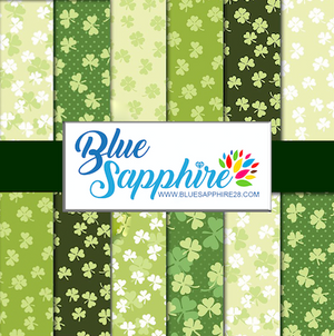 Clover Patterned HTV - PV50013 - Blue Sapphire