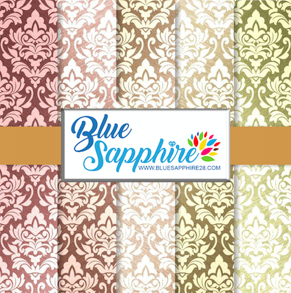 Damask Patterned Vinyl – Glossy - PV515