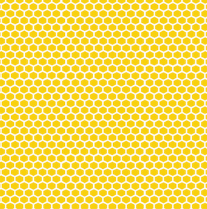 Honey Bee Patterned Vinyl – Glossy - PV50029 - Blue Sapphire