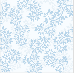 Floral Patterned HTV - PV50016 - Blue Sapphire