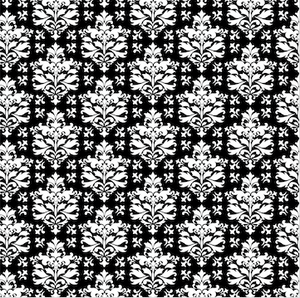 Black and White Patterned Vinyl – Glossy - PV50027 - Blue Sapphire