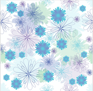 Peony Flowers Patterned HTV - PV50011 - Blue Sapphire