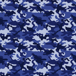 Camo Patterned HTV - PV999 - Blue Sapphire