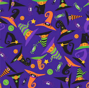 Halloween Patterned Vinyl – Glossy - PV50021 - Blue Sapphire