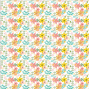 Floral Patterned Vinyl – Glossy - PV50023 - Blue Sapphire