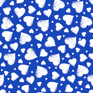 Hearts Patterned HTV - PV50006 - Blue Sapphire