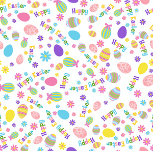 Easter Patterned Vinyl – Glossy - PV50036 - Blue Sapphire