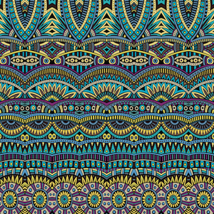 Tribal Patterned HTV-PV453 - Blue Sapphire