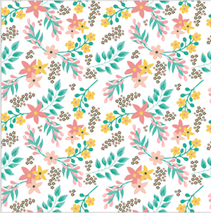 Floral Patterned HTV - PV50023 - Blue Sapphire