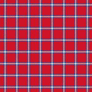 Blue and Red Plaid Patterned HTV - PV60004 - Blue Sapphire