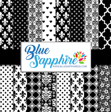 Black and White Patterned Vinyl – Glossy - PV50027