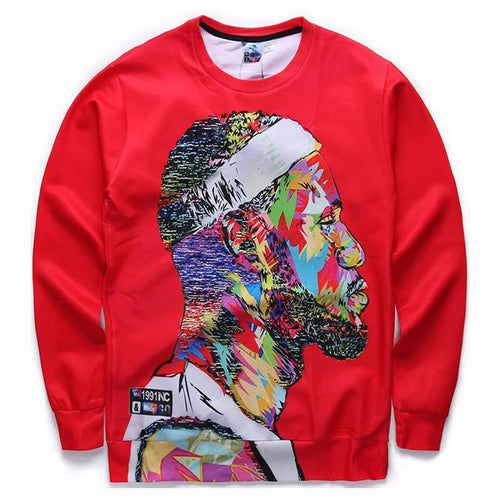 Men's 3D LeBron James Sweatshirt - nick smith