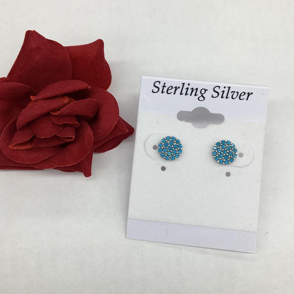 Mini Pave Blue Earrings